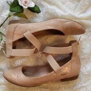 Metallic Pink B.O.C Ballet Flats with Zipper